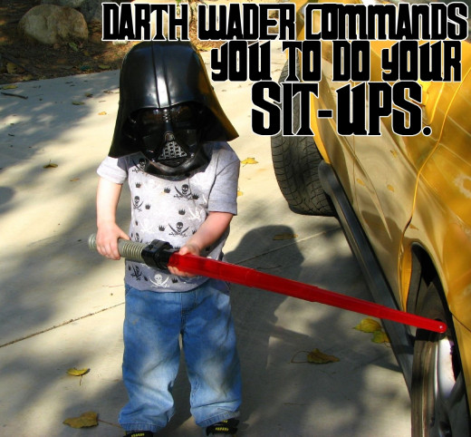 Motivational Quotes For Exercise/Workout, (Darth Wader commands you)