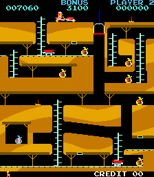 Bagman in the arcades was a platform game