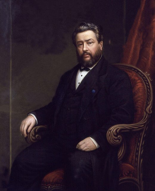 "Charles Haddon Spurgeon, a Great English Gospel Minister. A snow storm forced him to turn into a Primitive Methodist chapel in Colchester, England, where ""God opened his heart to the salvation message."""