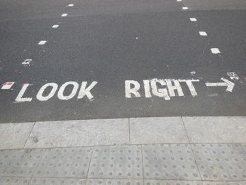Remember they drive on the opposite side of the road from Americans, so you need to look right more often than left when crossing the street!
