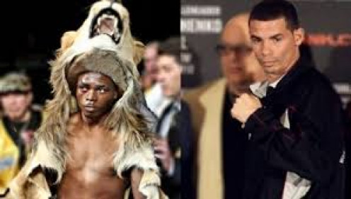"Sharif"" The Lion"" Bogere wears an actual Lion skin into the ring."