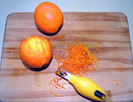 orange zest - set aside
