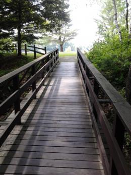 Bridge that separates two picnic areas