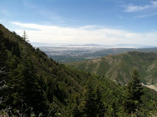View on the way to Grandeur Peak.