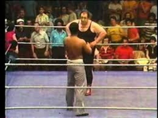 Muhammad Ali wrestled Gorilla Monsoon in the 1970s. In boxing he won the Gold medal in the Olympics and the heavyweight title three times as a professional.