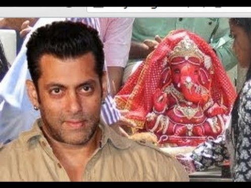 Bollywood Film Star Salman Khan attending a festival