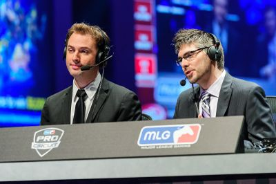 Day9 and DJ Wheat commentating at MLG