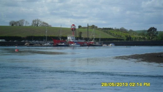The Lightship moored on Strangford Lough, just a few minutes walk from Daft Eddy's