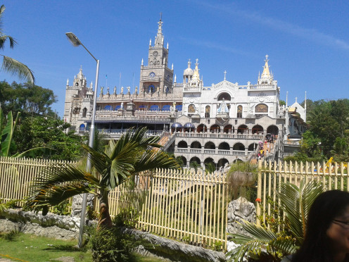 The famous Simala Church in Cebu Province where a statue of the Blessed Virgin Mary inside the inner part of the Church, known to have helped thousands of serious cases, including cancer.
