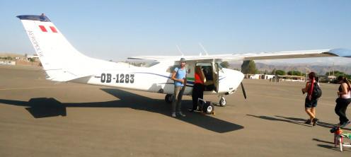Light Aircraft flight over the Lines of Nazca