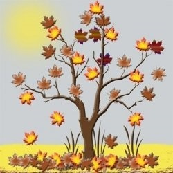 Fall scene graphic by Michelle Collins
