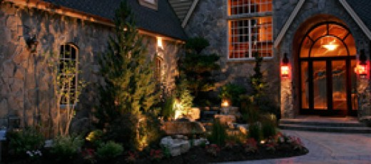 Lighting for ambiance and curb appeal.