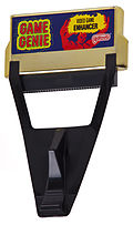 the iconic first game genie for the NES