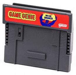 game genie for the SNES, alas this one did not have gold anywhere on it