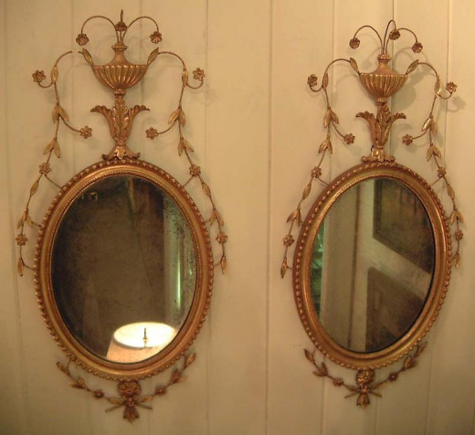 1830-1850 Regency Gilted Gold mirrors