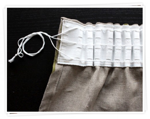 Curtains with a pencil pleat heading