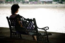 Sitting alone doesn't necessarily mean lonely