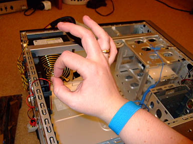 Use an antistatic wristband like in the picture when inside your computer. It's not that scary inside!