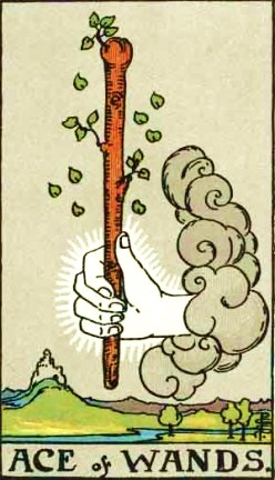 Ace of Wands; attribution page bottom