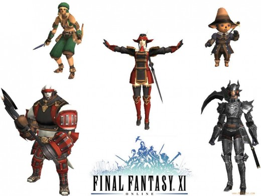 The five races of Final Fantasy XI