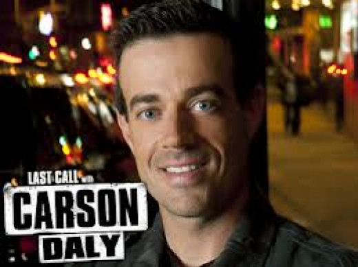 The Late Show with Carson Daly has musical acts, comedians, movie stars and other celebrities on his show every night through the  week. Daly, himself, is a stand up comic and it shows during his late night talk show.