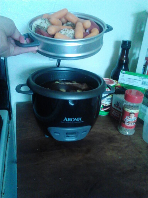 I really like this steamer because I can make my meat in the bottom and my veggies in the top and it all comes out quick and perfect.