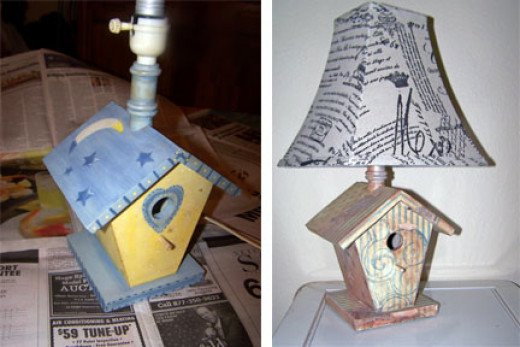 For a country cottage/shabby chic room, this old birdhouse lamp was perfect.