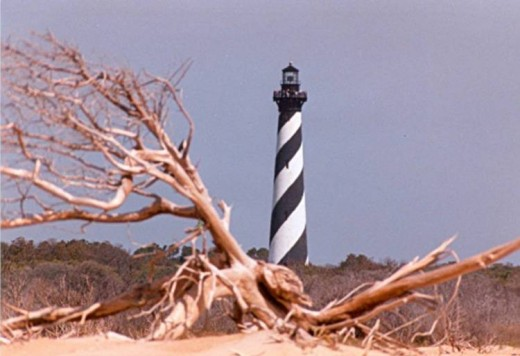 Hatteras Lighouse, an icon of the Outer Banks.  (photo copyright Donna Campbell Smith)