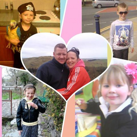 MY DAUGHTER SUE; SON IN LAW IAN WITH ELLIE,CHARLIE,NEYO AND CARMEL XXXXX