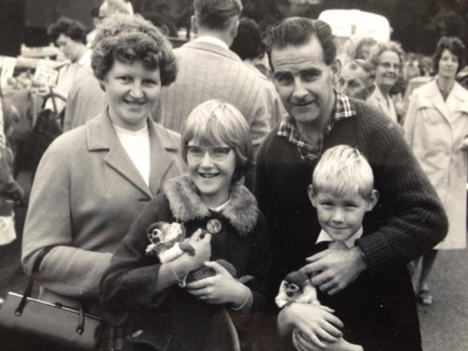 Brenda and Bob Neill with daughter Barbara and son Les....in the 60's
