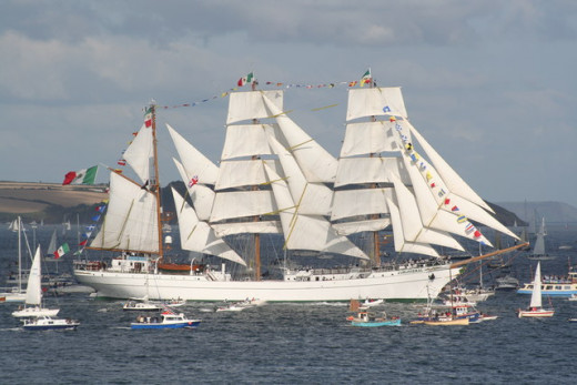 Things to Do in Falmouth, Cornwall: Tall Ships Race, The Mexican tall ship 'Cuauhtemoc' Leaving Falmouth during the 2008 Funchal 500 Tall Ships Regatta