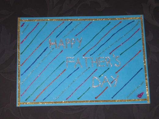 This card was created by me for my father