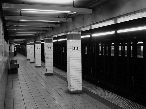An empty subway station is creepy - but just wait until you get outside!