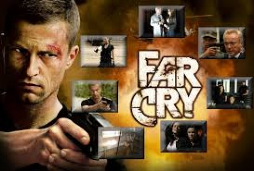 Far Cry the film is rated R and it is based on the rated M game series called Far Cry. It has intense violence in the games with lots of special effects.