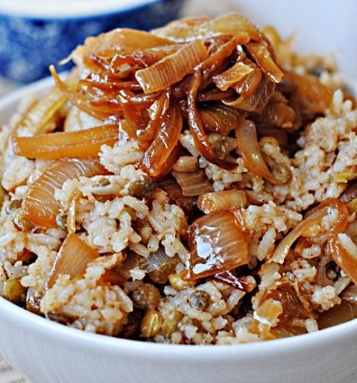 Mujadara Recipes - Authentic Lebanese Mujadara with Rice, Lentils ...