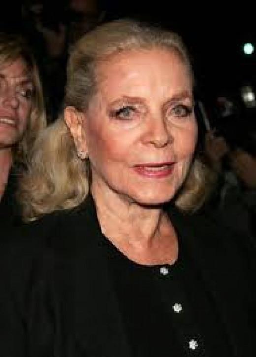 (4) Lauren Bacall, iconic screen legend.