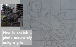 Sketch a Digital Photo Quickly and Accurately using a Grid