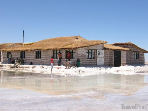 Hotel Playa Blanca on the Salt Flats of Bolivia