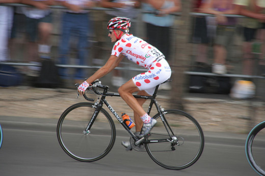 The best climber in the Tour de France wears the polka dot jersey