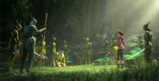 """A scene from the 20th Century Fox Animation Studios blockbuster movie """"Epic"""", featuring the voices of Amanda Seyfried, Colin Farrell and Josh Hutcherson"""