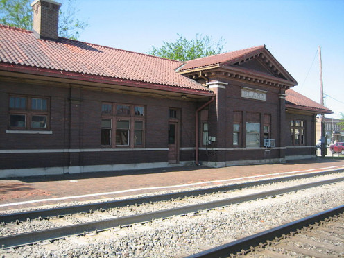 Home of the Smallville Museum: The Plano, Illinois Train Depot.