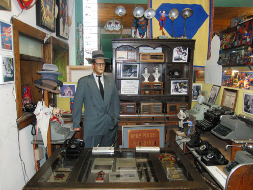 At the Super Museum - Clark Kent at the Daily Planet.