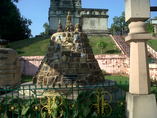 Within the Maha Bodhi Temple Premises