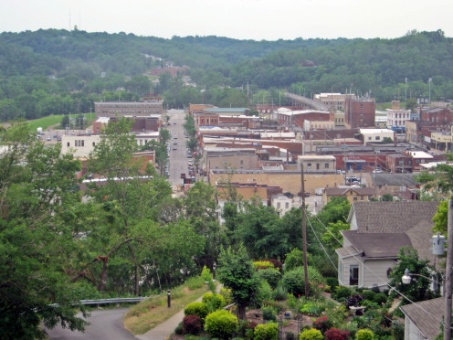 The town of Hannibal, Missouri