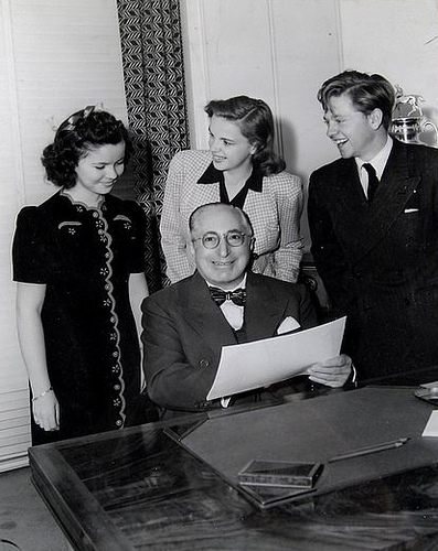 With Shirley Temple, Judy Garland and Mickey Rooney