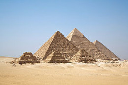 The Egyptian Pyramids are the largest tombstones in the world, used to document the existence and reign of Egypt's great Pharaohs.
