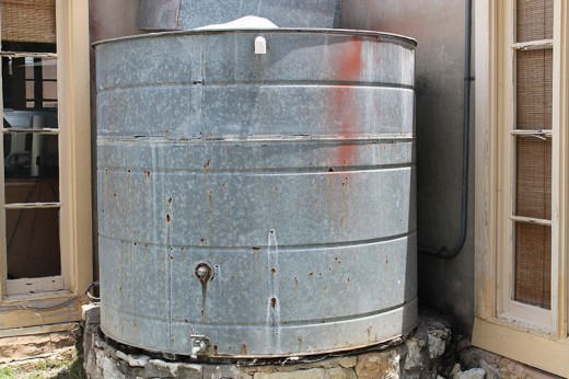 Galvanized tanks have been used for years for windmill or rainwater collection.