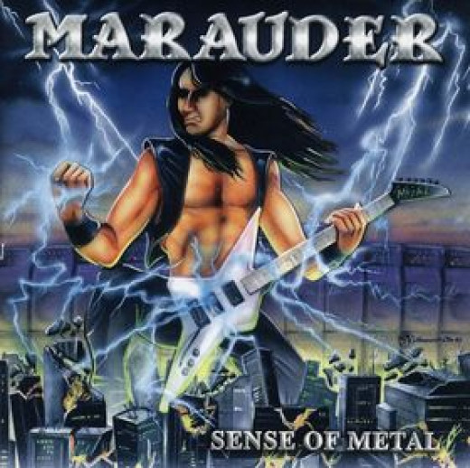 Marauder, SENSE OF METAL -released in 1997? It would've already looked horribly dated in 1987!!