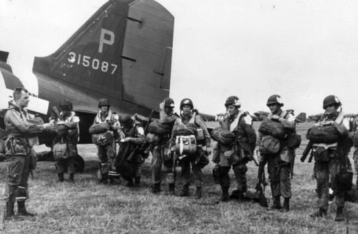 Airborne troops prior to Normandy