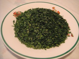 Fig.3. Finely chopped chives
